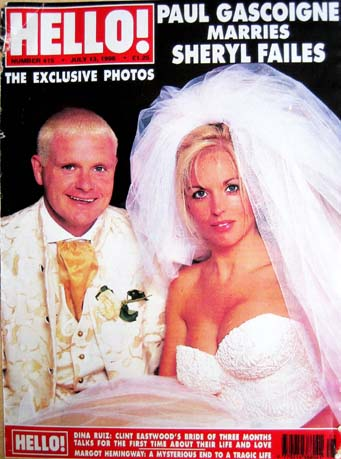 Hello magazine's Paul Gascoigne wedding cover