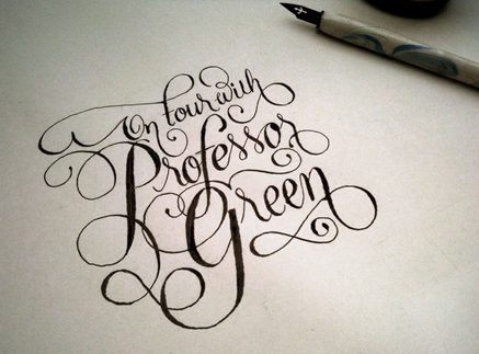 Professor Green calligraphy for Nuts magazine
