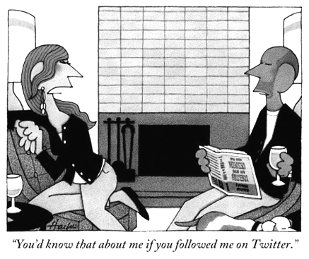 New Yorker cartoon all about Twitter