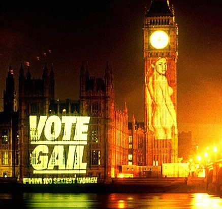 Gail porter on the houses of parliament