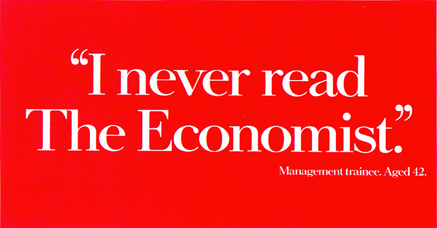 poster campaign for the economist