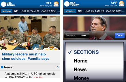 usa today mobile screens