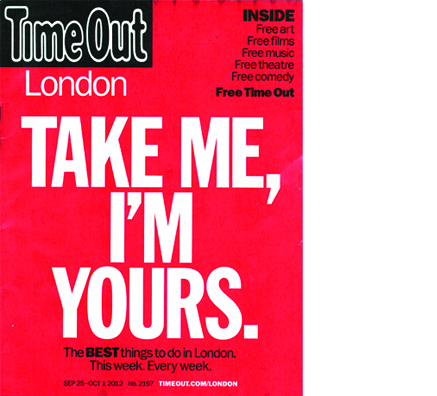 time out magazine goes free
