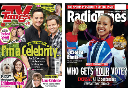 radio and tv times covers