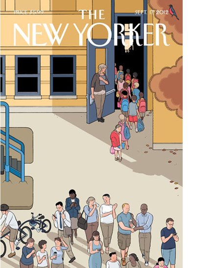 New Yorker cover back to school