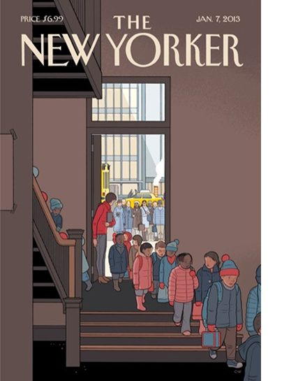 New Yorker cover post newtown