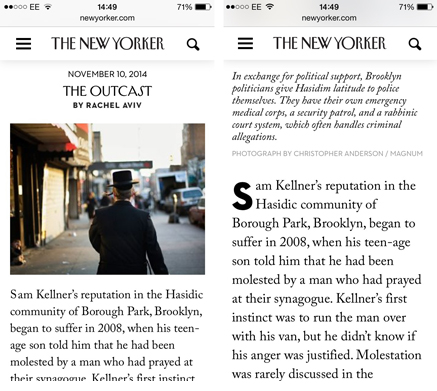 New yorker mobile type
